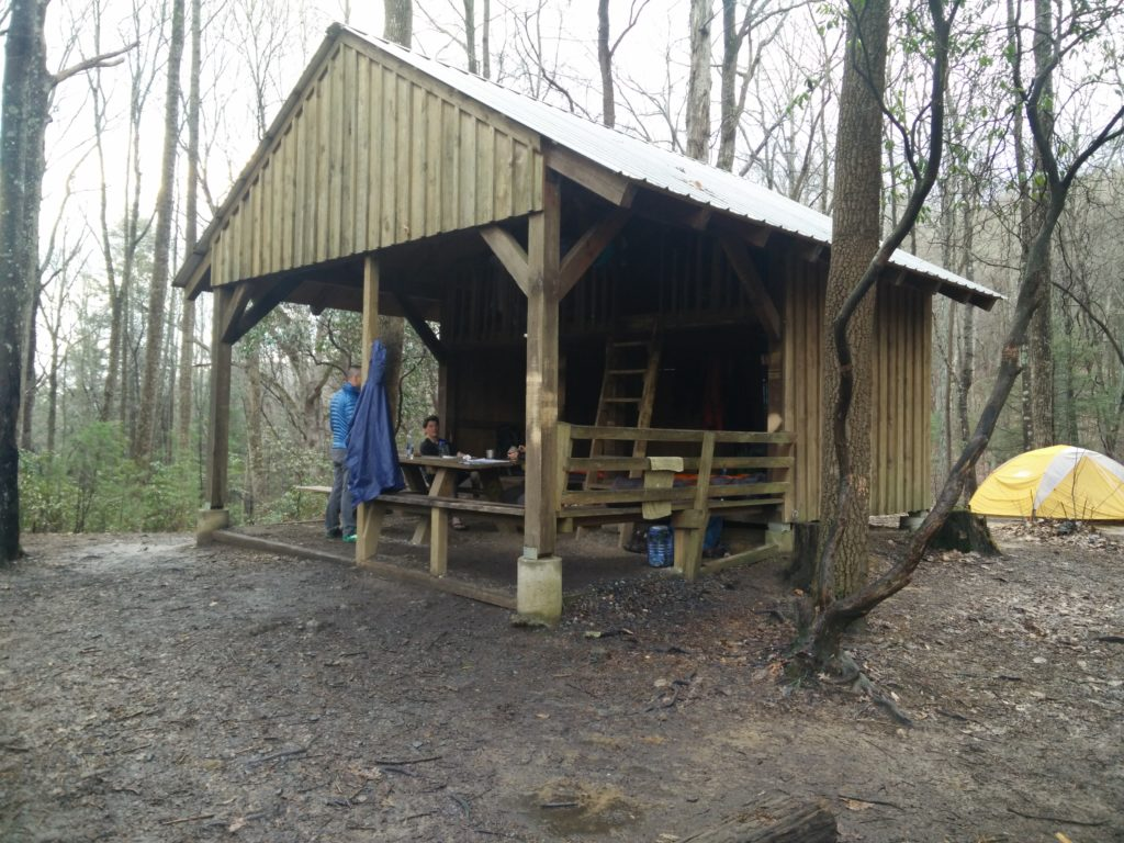Shelter auf dem Appalachian Trail